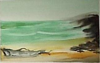 Maria Teresa Fernandes: 'lonely shore', 1980 Watercolor, Maps. a place we would like to be...