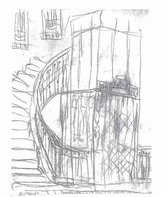 Maria Teresa Fernandes  'Old Elevator By Ebf', created in 2006, Original Drawing Pencil.