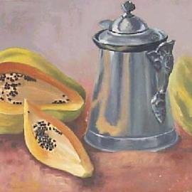 papaya and coffee pot By Maria Teresa Fernandes
