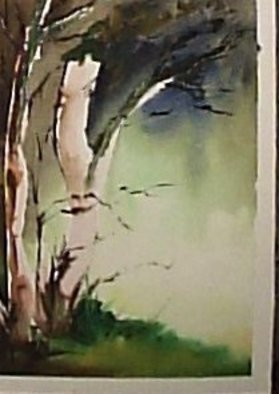Maria Teresa Fernandes Artwork 'pristine forest', 1980. Watercolor. Healing. Artist Description: to touch nature is an error. Touching wet watercolor also takes easily to an error, difficult task......
