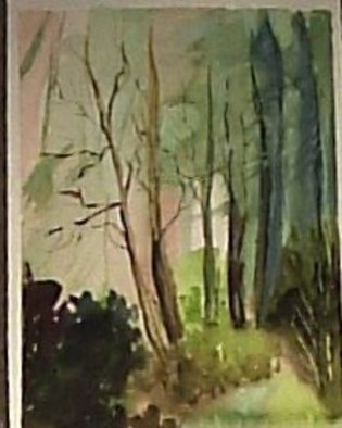 Maria Teresa Fernandes Artwork profusion forest, 1980 Watercolor, Life