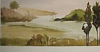 Maria Teresa Fernandes Artwork restful resort, 1980 Watercolor, Travel
