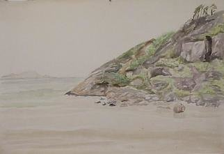 Maria Teresa Fernandes Artwork sea and horizon, 1970 Watercolor, Marine