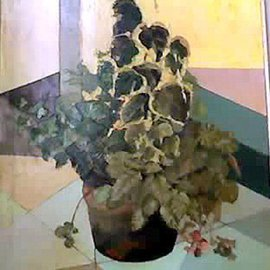 Maria Teresa Fernandes: 'spread greens', 1974 Oil Painting, Fashion. Artist Description: place each petal in its plan, shade and hues...