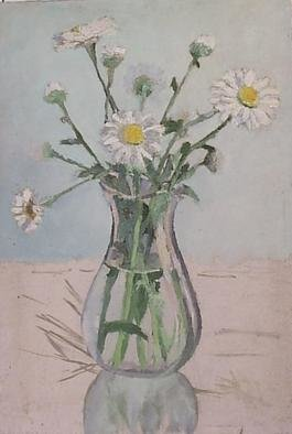 Artist: Maria Teresa Fernandes - Title: unfinished daisies - Medium: Oil Painting - Year: 1967