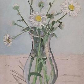 Maria Teresa Fernandes Artwork unfinished daisies, 1967 Oil Painting, Romance