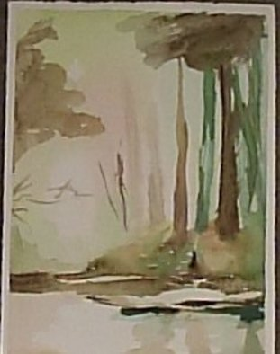 Maria Teresa Fernandes Artwork up trees, 1980 Watercolor, Nature
