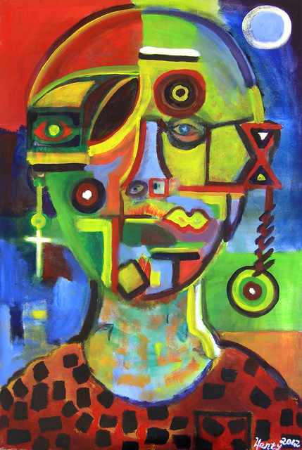 Eric Henty  'Future Man 1', created in 2012, Original Painting Acrylic.