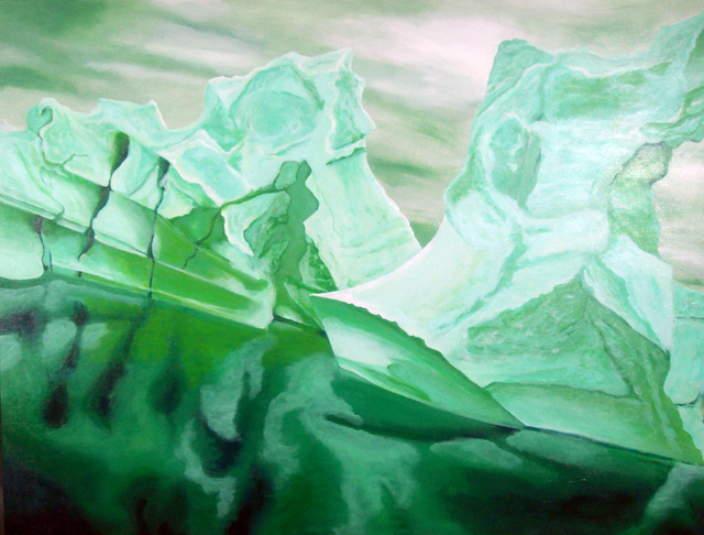 Eric Korbly  'Monolith 5', created in 2010, Original Painting Oil.