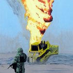 Oil Well Fire 1 By Eric Korbly