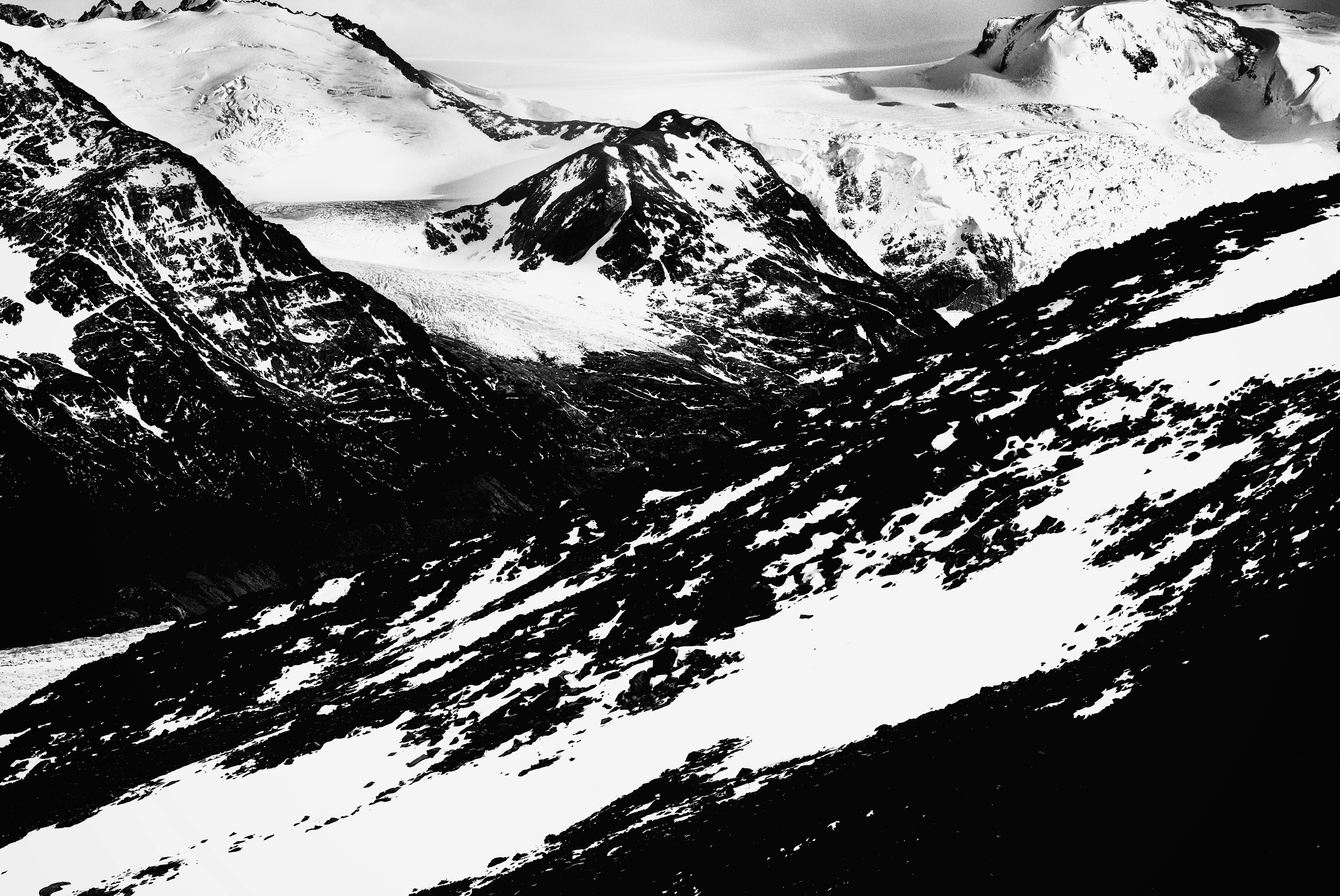 Erick Strange: 'Grey glacier', 2018 Black and White Photograph, Abstract Figurative. Artist Description: Photo taken in National Park Torres del Paine, Patagonia - Chile...