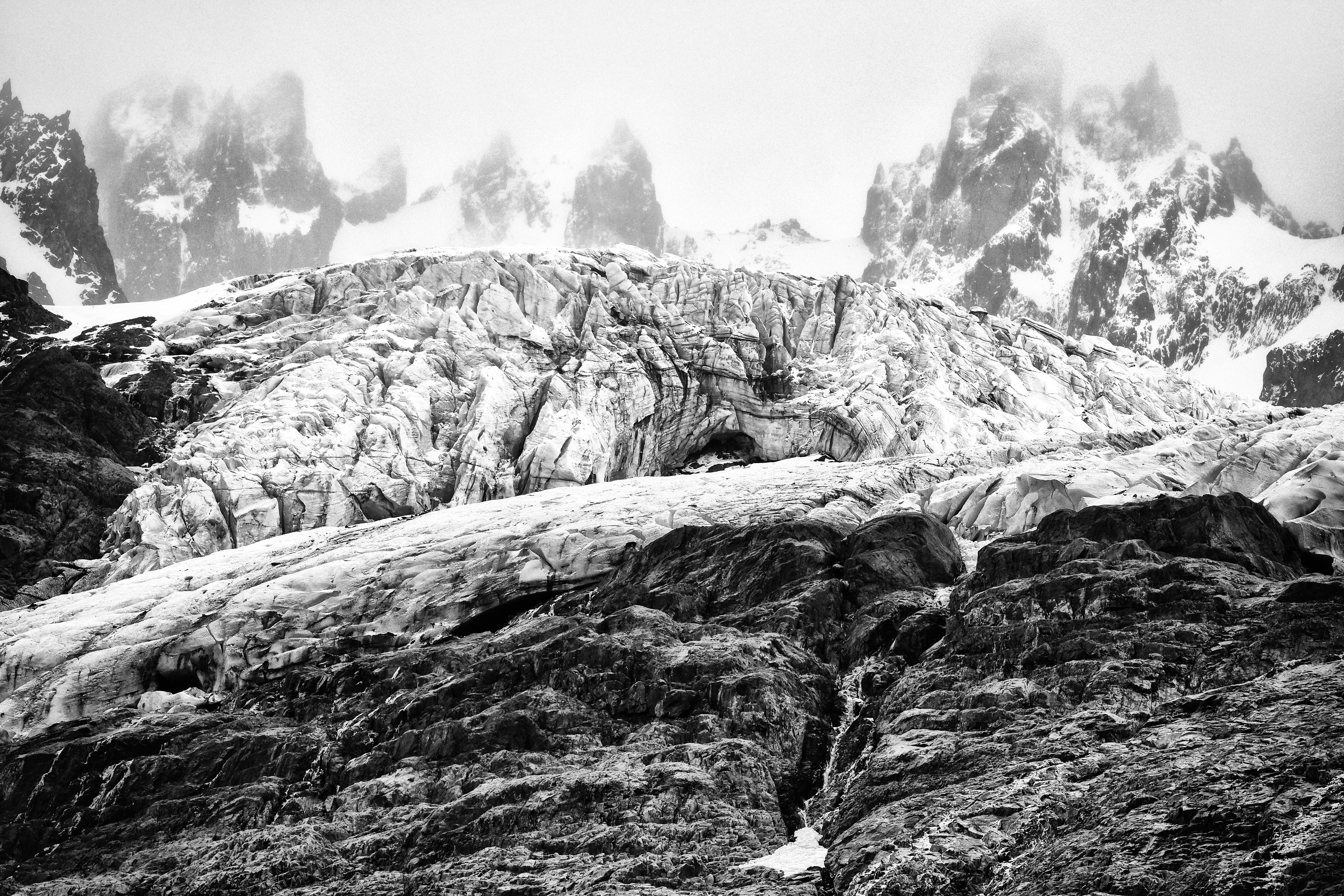 Erick Strange: 'glacier', 2018 Black and White Photograph, Abstract Figurative. Artist Description: Photo taken in Southern Chile, Cerro Castillo - Patagonia ...