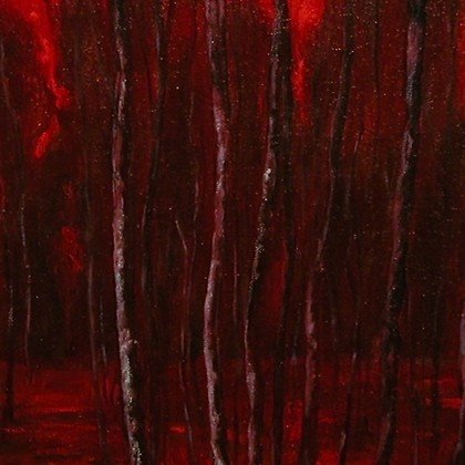 , Deep Red 3, Abstract Landscape, $2,625