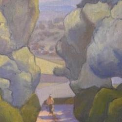 , Farmer In The Spanish Bac, Landscape, $840