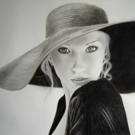 Eric Stavros Artwork blonde elegance, 2010 Pencil Drawing, Beauty