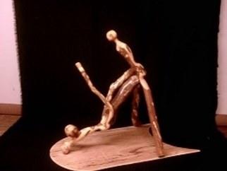 Merlin Mccormick: 'drilling deep', 2015 Wood Sculpture, Erotic. Artist Description: going deep...