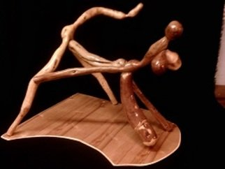 Merlin Mccormick Artwork lovers, 2015 Wood Sculpture, Erotic