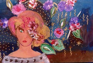 Ellen Safra Artwork Saturday Night, 2003 Acrylic Painting, Fantasy