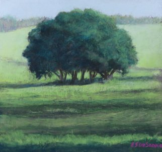 E S Desanna: 'west sussex copse', 2018 Pastel, Landscape. I spent a Spring week painting at West Dean, outside of Chichester UK.  The weather was perfect, the air clear and crisp. ...