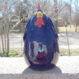 dark blue chicken