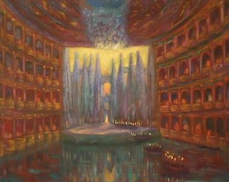 Edward Tabachnik Artwork Water Theater, 1998 Oil Painting, Theater