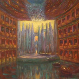 Edward Tabachnik: 'Water Theater', 1998 Oil Painting, Theater. Artist Description:   New style: Romantic Expressionism.Series: Theaters. The Water Theater created by the Artist. ...