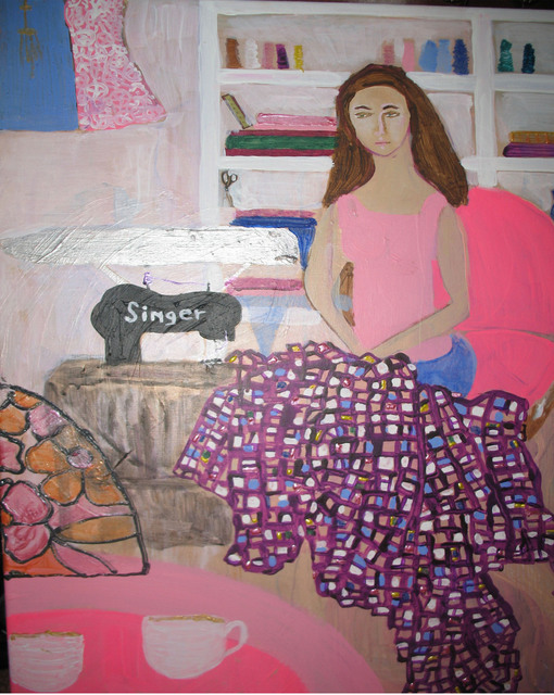 Evie Tirado sewing room 2008