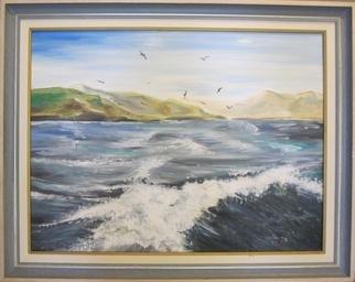 Artist: Evangelos Tzavaras - Title: Leaving from a Greek Island - Medium: Oil Painting - Year: 2000