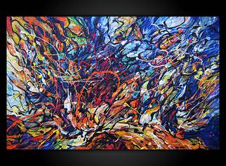 Acrylic Painting by Eugenia Mangra titled: FREE SPIRIT, 2014