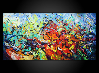 Acrylic Painting by Eugenia Mangra titled: Flaming Passion, 2014