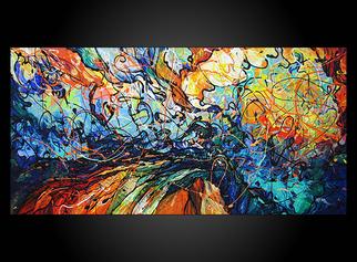 Acrylic Painting by Eugenia Mangra titled: Midnight Sun, 2014