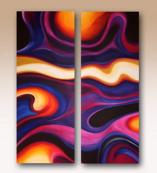 Rob Alban: 'Mesmerized', 2008 Acrylic Painting, Abstract.  Diptych acrylic painting on a deep edge 1. 5 canvas ...