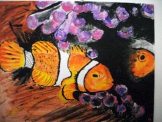Ina Jinapaia: 'Clownfish', 2014 Acrylic Painting, Animals.       Clownfish upclose     ...