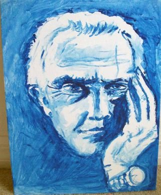Ina Jinapaia: 'In Thought', 2014 Acrylic Painting, Portrait.  A man in thought ...