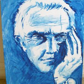 Ina Jinapaia: 'In Thought', 2014 Acrylic Painting, Portrait. Artist Description:  A man in thought ...
