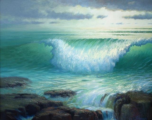 Eve Thompson Artwork Crashing Wave Original Painting