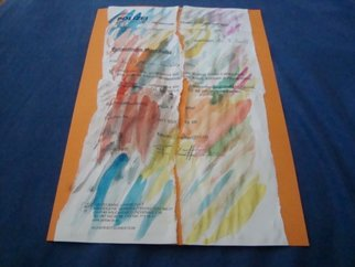 Evelyne Ketterlin Artwork Torn and painted Policeletter, 2015 Paper, Activism