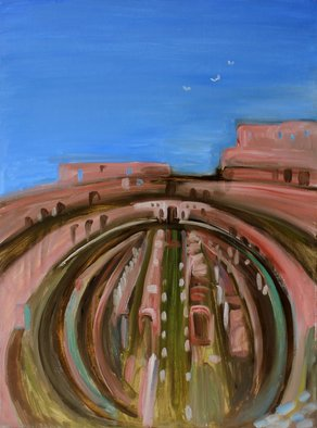 Evgeniya Komarova Artwork colosseum, 2017 Oil Painting, Abstract Landscape