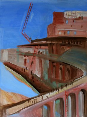 Evgeniya Komarova Artwork colosseum 2, 2017 Oil Painting, Abstract Landscape