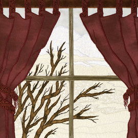 Carol Brown Artwork Winter Window, 2008 Fiber,