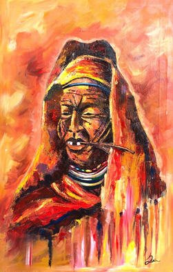 Paul Ackom Junior Artwork beauty over 60, 2017 Acrylic Painting, Impressionism