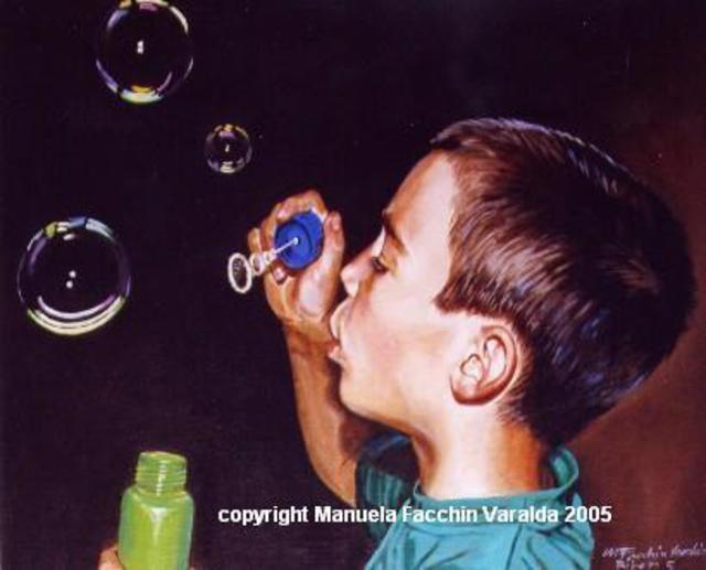 Manuela Facchin Varalda  'Soap Bubbles', created in 2005, Original Painting Acrylic.