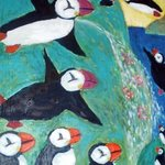 Flying Puffins By Faith Copeland