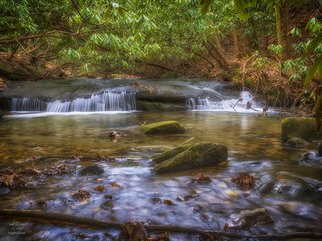 Falcon None: 'By the River 4196', 2015 Digital Photograph, Nature. Artist Description:  Roaring Gap, Stone Mountain, nature, stream, water, water fall, winter, color  ...