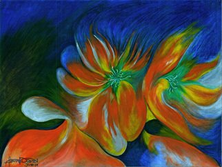 Artist: Fanny Diaz - Title: wild flower - Medium: Oil Painting - Year: 2001