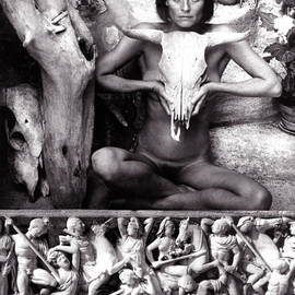 Itzhak Ben Arieh: 'AMAZON', 1993 Black and White Photograph, Fantasy. Artist Description:  PHOTOMONTAGEFANTASTIC PHOTOGRAPHY ...