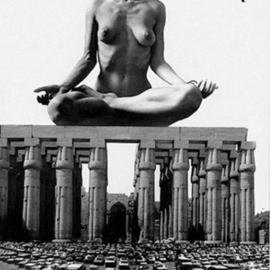 Itzhak Ben Arieh: 'THE TEMPEL', 1994 Black and White Photograph, Fantasy. Artist Description:  PHOTOMONTAGEFANTASTIC PHOTOGRAPHY ...