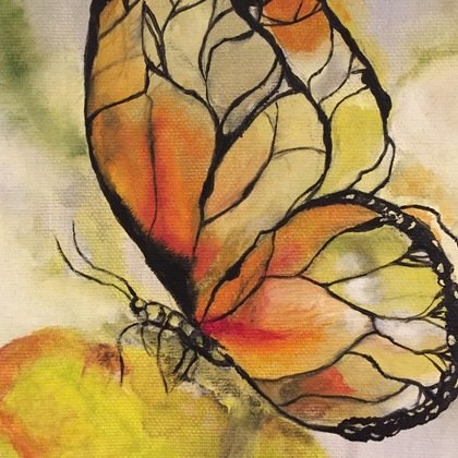 , Yellow Butterfly, Animals, $156