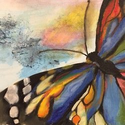 , Blue Butterfly, Animals, $131