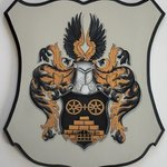 Coat of Arms Family crest wall plaque By Gerhard Mounet Lipp